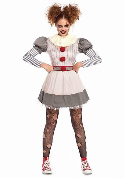 Clown Costume Creepy Womens Adult