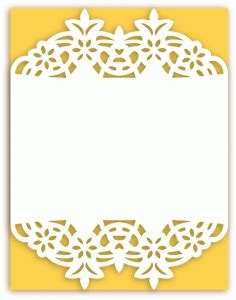 silhouette design store view design 61430 a2 lace flower frame card base svg files