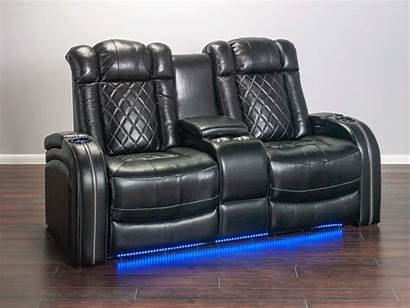 Leather Grain Theater Transformer Loveseat Quilted Piece