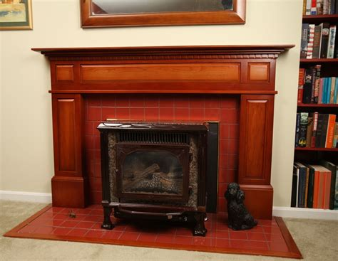 hand crafted federal style fireplace surround  cherry