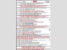 Pravoslavni crkveni kalendar za 2015 05