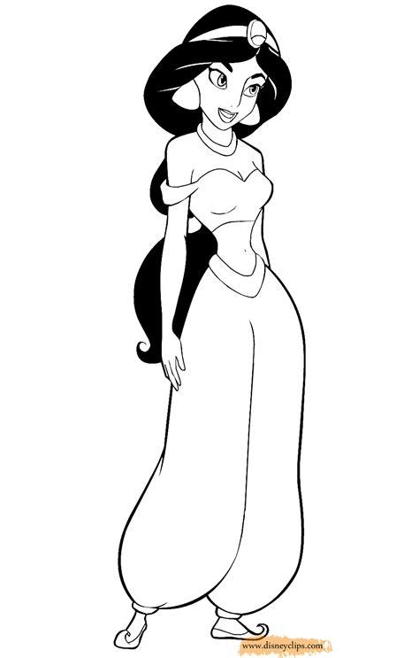 princess jasmine coloring page princess jasmine