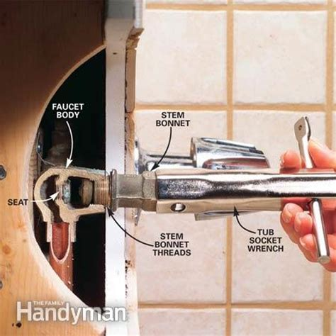 repair  leaking tub faucet  family handyman