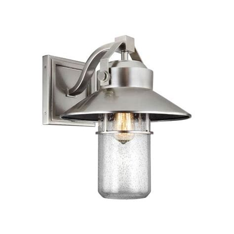 boynton fan and lighting boynton painted brushed steel 16 inch one light outdoor