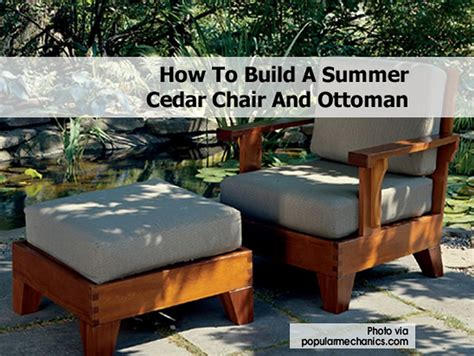 How To Build A Ottoman by How To Build A Summer Cedar Chair And Ottoman
