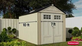 rubbermaid big max ultra outdoor storage shed youtube
