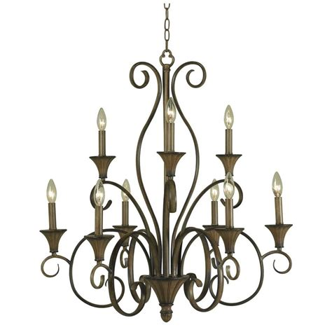 home depot chandelier home decorators collection cesto collection 7 light wood
