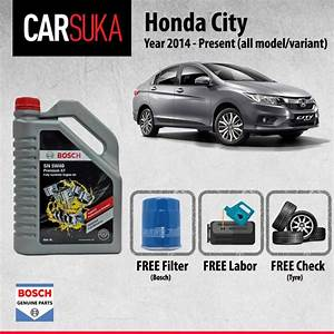Honda City  T9a  Engine Oil Change Service Package  Fully Synthetic  10 000km Mileage Interval
