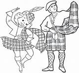 Coloring Scotland Woman Dance Coloringpagesfortoddlers Dancing sketch template