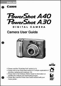 Canon Powershot A30 A40 Digital Camera User Guide