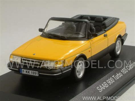 norev Saab 900 Turbo 16 S Cabriolet (Yellow) (1/43 scale ...