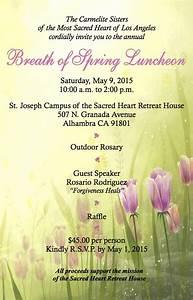 Breath of Spring Luncheon   Saturday, May 9   Carmelite ...