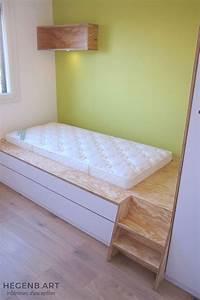 Lit En Hauteur Enfant : meuble chambre enfant sur mesure hegenbart ~ Preciouscoupons.com Idées de Décoration