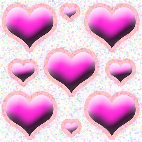 pink love heart pattern  stock photo public domain