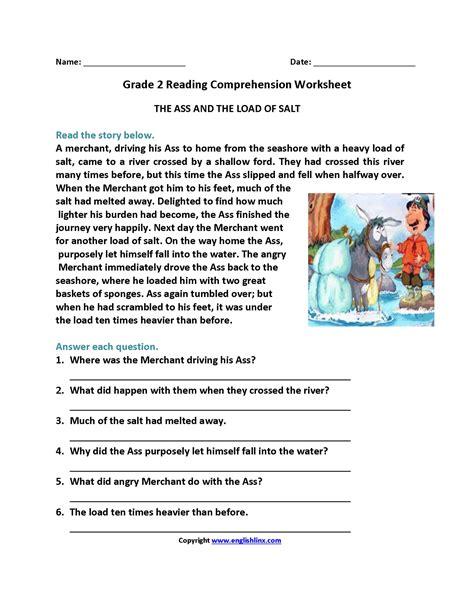 Comprehension Reading Worksheets For 2nd Grade Best 2nd Grade Reading Prehension Passages Pdf