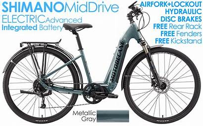 Electric Bikes Motobecane Hydraulic Shimano Brakes Integrated