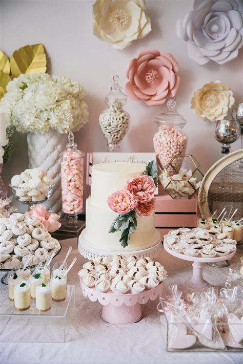 blush garden rose inspired baby shower miami event