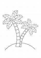 Palm Trees Coloring sketch template