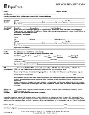 equuitrust service request form fill  printable