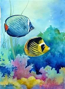Under the Sea tropical fish watercolor. | Watercolor Fish ...