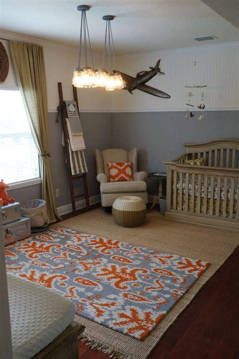 lincolns yellow gray  orange nursery project nursery