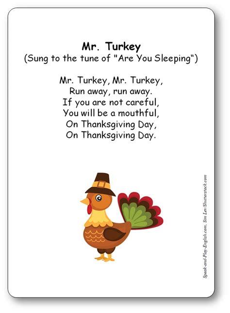 turkey thanksgiving song sung   tune