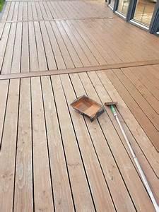 Terrassendielen len streichen lasieren so wirds for Terrasse ölen
