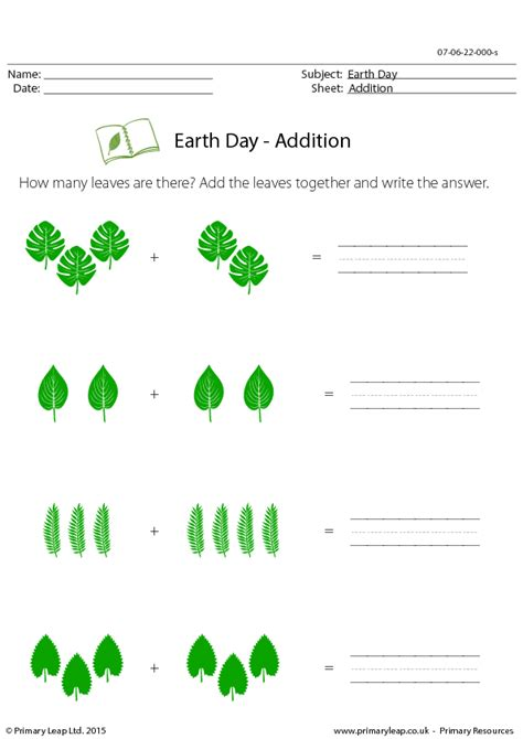 earth day math activities for preschoolers earth day addition 736