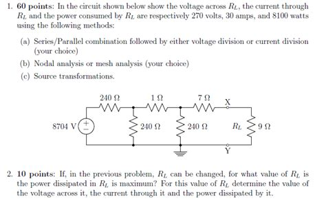 Solved Points The Circuit Shown Below Show