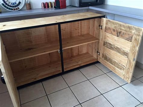 building cabinets out of pallets pallet wood sideboard kitchen cabinets 101 pallets