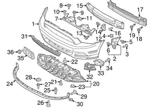 Bumper Components Front For Ford Mustang Oem