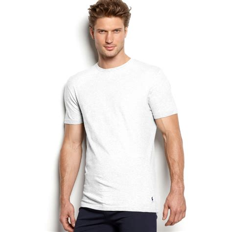 embroidered sleeve t shirt lyst ralph crew neck tshirt 3 pack in