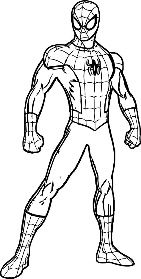 spiderman suit coloring page  coloring pages