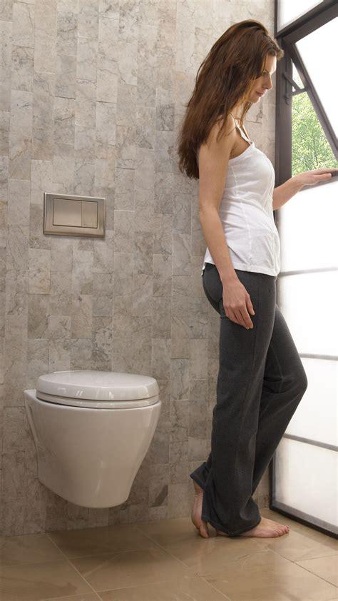 aquia wall hung dual flush toilet  gpf  gpf
