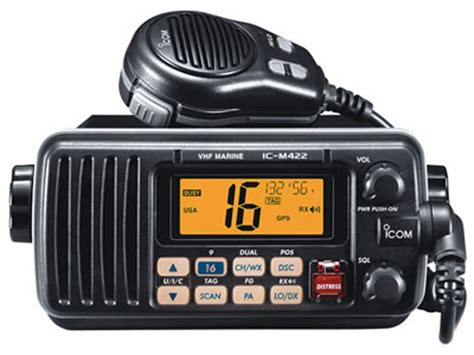Boat Marine Radio Channel by Icom Ic M422 Vhf Marine Radio