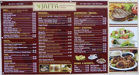mediterranean cuisine menu menu jaffa mediterranean cuisine friargate flickr