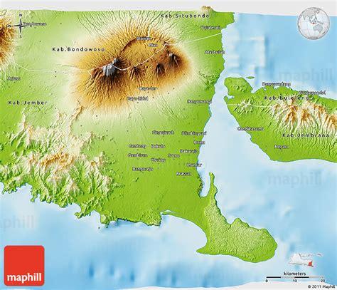 physical  map  kab banyuwangi