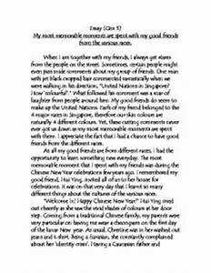 essay about characteristics of a good friend