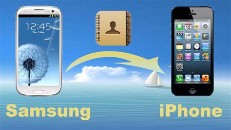 transfer iphone to samsung how to transfer contacts from samsung to iphone 5 samsung