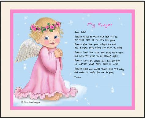 Angel My Prayer Personalized Art Print Girl Baby Infant