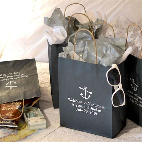 Personalized 8 X 10 Kraft Paper Wedding T Bags