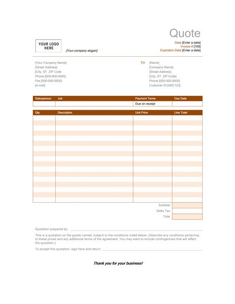 catering pricing template catering quotation template quote template