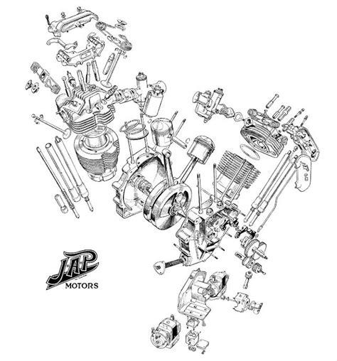 V Engine Diagram j a p v engine diagram custom bobber chopper