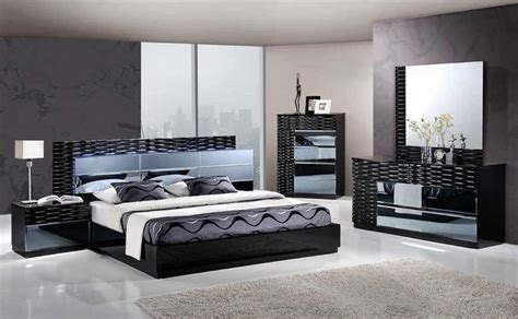 contemporary bedroom sets made in italy manhattan king size modern black bedroom set 5pc global
