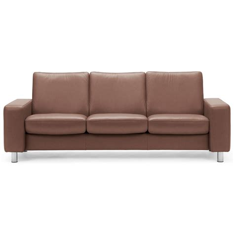 Low Back Reclining Sofa by Stressless Arion 19 A20 Contemporary Low Back Reclining