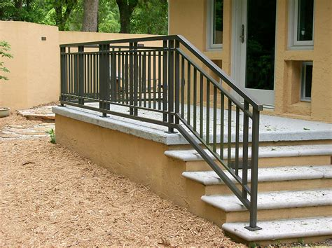 Outdoor Banisters And Railings by Exterior Railing Metal Fabrication Aluminum Fabrication