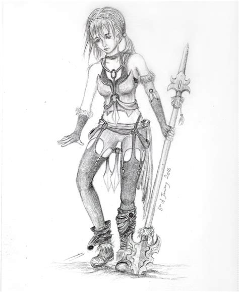 Pencil Drawing Easy Anime Girl Warriors