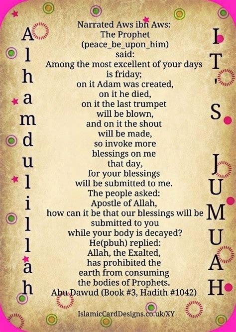 jumah friday sunnah pinterest  islam islamic