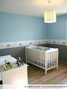 photos decoration de chambre bebe enfant garcon enfantin With chambre bebe garcon bleu gris