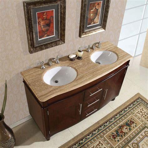"55"" Silkroad Cambridge  Double Sink Cabinet Bathroom"